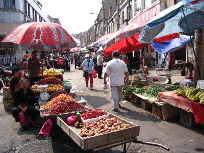 Street market in Qingdao